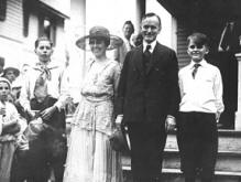 The Coolidge Family: Calvin Jr., Grace, Calvin Sr. and John