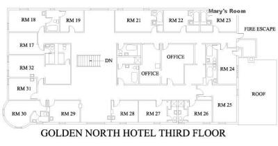 Golden North Hotel's Third Floor
