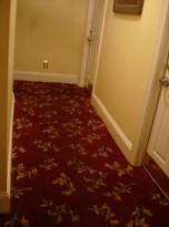 The hallway between rooms 201 and 203