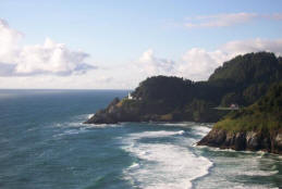Heceta Head coastline